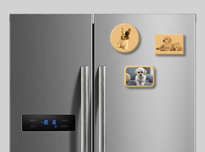 Wooden Photo Magnets